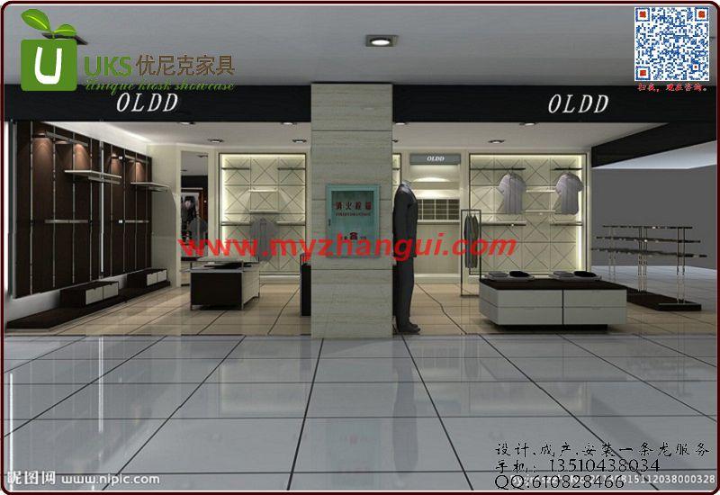 公司资讯  深圳服装展柜制作的形式美 还有就是服装店室内设计的形式