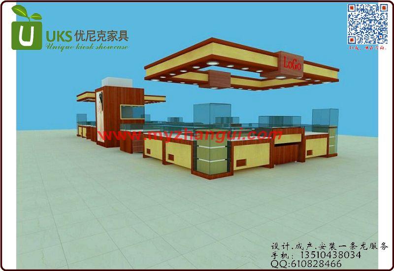 香港黄金展柜工厂 - 深圳展柜厂家制作高档烤漆展示柜