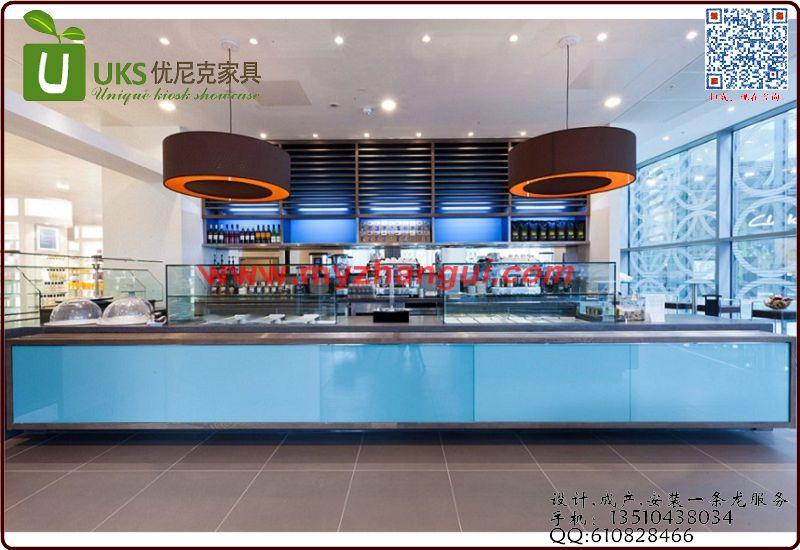 连锁星巴克咖啡店选取专业的咖啡展柜厂家 咖啡展柜设计图 高质量的
