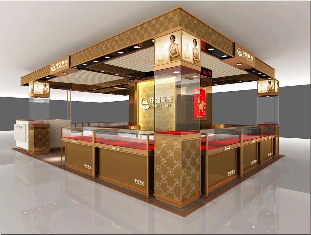 深圳优秀的卡地亚展柜设计效果图图片
